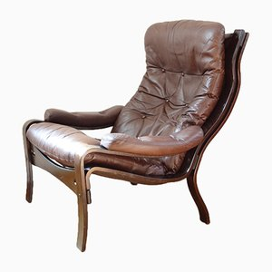 Vintage Vidja Leather Armchair from Ikea, 1970s