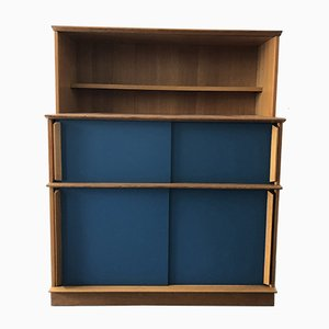 Vintage French Bookcase with Sliding Doors from Oscar