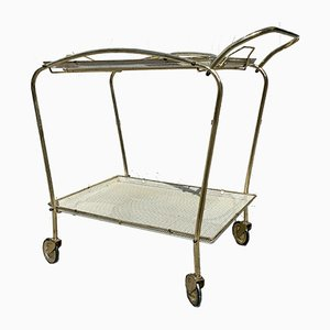 Vintage Metal Bar Cart, 1950s