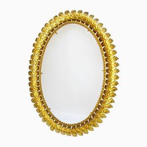 Specchio Mid-Century in ferro a forma di sole