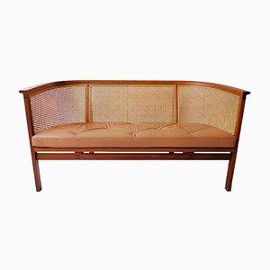 Sofa aus Mahagoni, Schilfrohr & Leder von Rud Thygesen & Johnny Sørensen für Botium, 1970er
