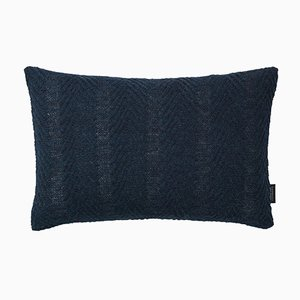 Dark Blue Herringbone Cushion by Louise Roe