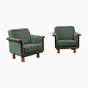Armchairs by Carl Johan Boman, 1940s, Set of 2