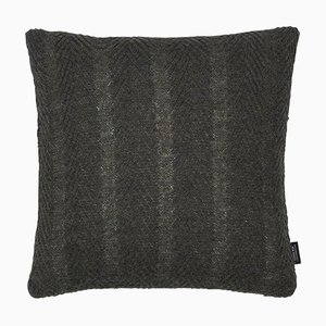 Army Green Herringbone Cushion by Louise Roe