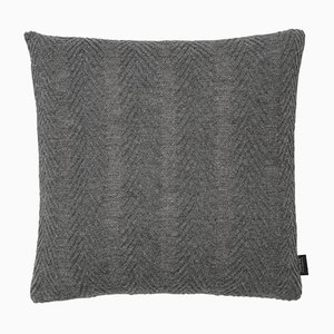 Grey Herringbone Cushion by Louise Roe