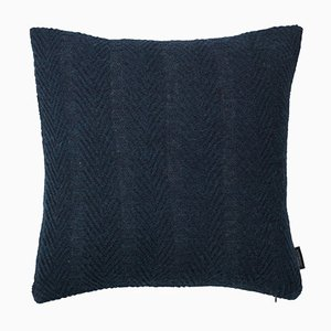 Dark Blue Herringbone by Louise Roe