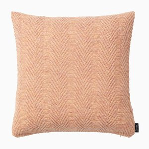 Pearl & Peach Herringbone Cushion by Louise Roe