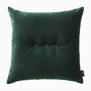 Jade Green Velvet 3 Dots Cushion by Louise Roe