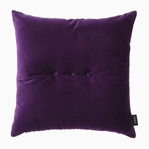 Amethyst Velvet 3 Dots Cushion by Louise Roe