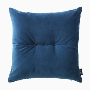 Royal Blue Velvet 3 Dots Cushion by Louise Roe