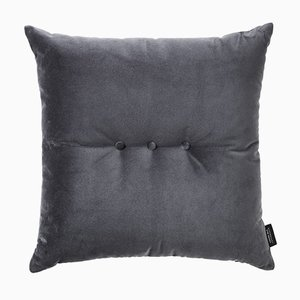 Evening Grey Velvet 3 Dots Cushion by Louise Roe