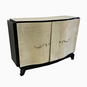 Vintage French Art Deco Parchment Sideboard