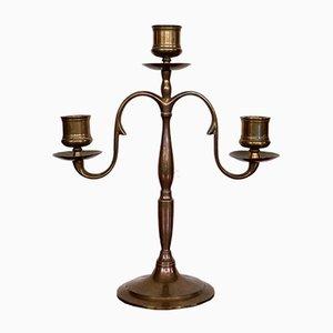 Kerzenhalter aus Messing von Paavo Tynell für Oy Taito Ab, 1930er