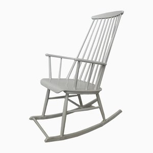 Vintage Rocking Chair by Ilmari Tapiovaara, 1960s