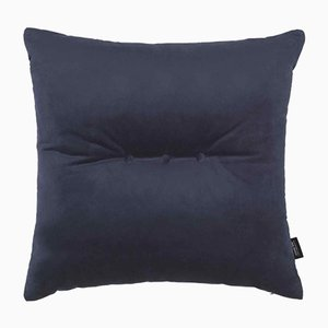 Dark Blue Velvet 3 Dots Cushion by Louise Roe