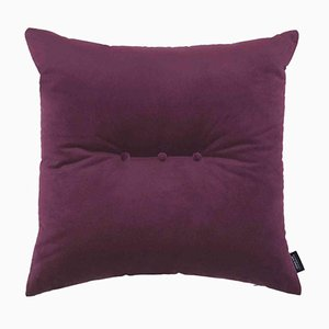 Bordeaux Velvet 3 Dots Cushion by Louise Roe