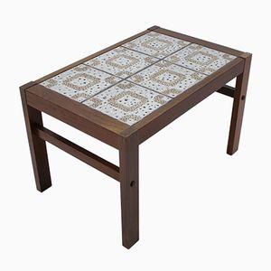 Tavolino in palissandro e ceramica, anni '60