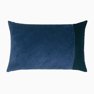 Edge Kissen aus blauem Kordel von Louise Roe