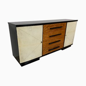 Italian Maple and Parchment Sideboard, 1940s