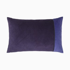Purple Corduroy Edge Cushion by Louise Roe