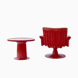 Set mit Saturnus Sessel & Tisch von Yrjö Kukkapuro für Haimi, 1960er
