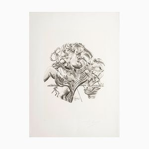 Poetry Serigraph by Salvador Dalì for Istituto Grafico Italiano, 1983