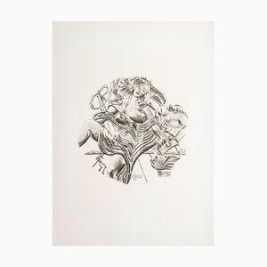 Sérigraphie Poetry par Salvador Dalì pour Istituto Grafico Italiano, 1983