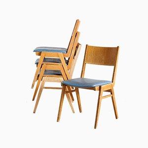 Chaises Vintage en Hêtre, 1970s, Set de 4