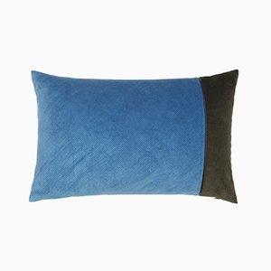 Edge Kissen aus hellblauer & armeegrüner Kordel von Louise Roe