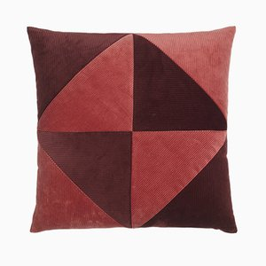 Corduroy Triangle Cushion by Louise Roe