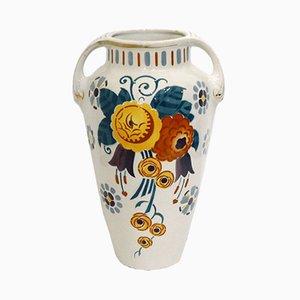 Art Déco Toscane Vase von K & G Lunéville, 1920er