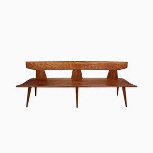 Pine Bench by Jacob Kielland Brandt for Christiansen, 1960s