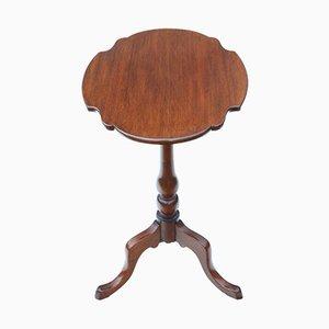 Antiker viktorianischer Beistelltisch aus Mahagoni mit klappbarer Tischplatte