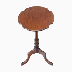 Antique Victorian Mahogany Tilt Top Side Table