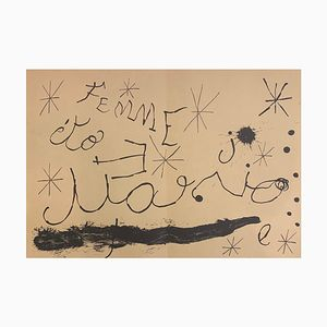 Cartons Double-Sided Lithograph on Paper by Joan Mirò for Maeght, 1965