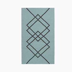 Grüner Borg 01 Teppich von Louise Roe