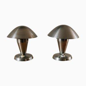 Lampes de Bureau par Josef Hurka pour Napako, 1930s, Set de 2