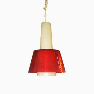 Lámpara colgante roja, años 70