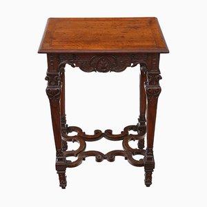 Tavolino antico in legno di noce