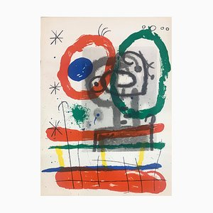 Cartons Double-Sided Lithograph by Joan Mirò for Maeght, 1965