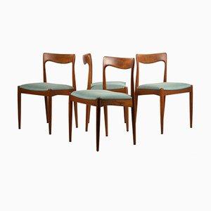 Sedie da pranzo vintage di Arne Vodder per Vamo Sonderborg, set di 4