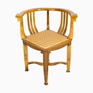 Antiker Jugendstil Armlehnstuhl aus Nussholz