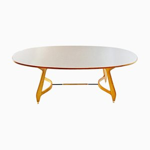 Mid-Century Oval Dining Table by Gio Ponti