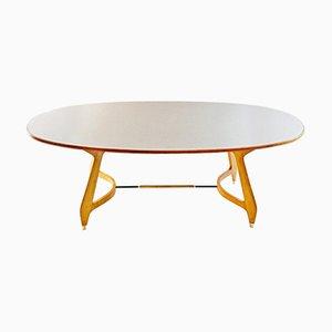 Table de Salle à Manger Ovale Mid-Century par Gio Ponti