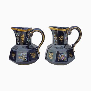 Vintage Ceramic Jugs, 1920s, Set of 2