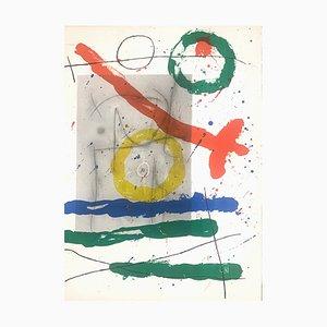 Doppelseitige Cartons Tavola 12 Lithografie von Joan Mirò für Maeght, 1965
