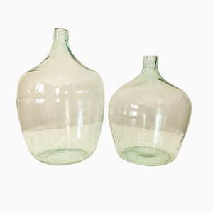 Large Vintage Wine Demijohn Vase, 1970s, Set of 2