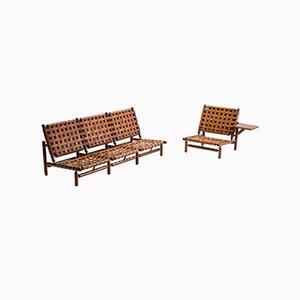 Conjunto italiano de sofá y silla de Ilmari Tapiovaara para Paolo Arnaboldi, 1957