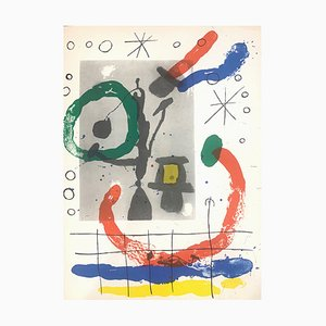 Cartons Tavola 16 Double-Sided Litograph by Joan Mirò for Maeght, 1965
