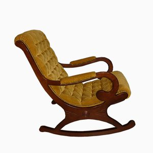 Rocking Chair Jaune Moutarde, 1960s